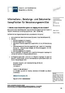Informations-, Beratungs- und Dokumentationspflichten