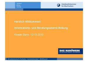 Informations- und Beratungsabend Bildung