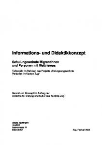 Informations- und Didaktikkonzept