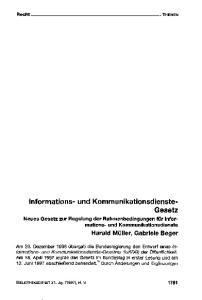 Informations- und Kommunikationsdienste- Gesetz