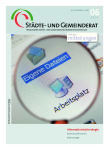 Informationstechnologie. Mit den mitteilungen. Kommunalfinanzen Solarenergie 64. JAHRGANG JUNI