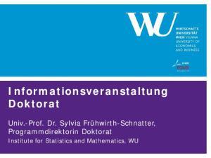 Informationsveranstaltung Doktorat