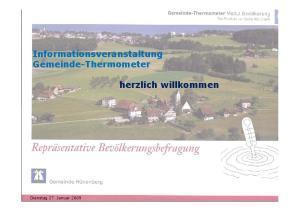 Informationsveranstaltung Gemeinde-Thermometer. herzlich willkommen