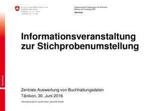 Informationsveranstaltung zur Stichprobenumstellung