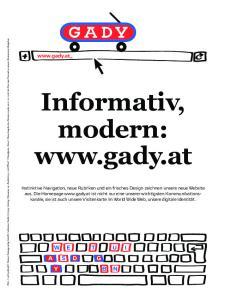 Informativ, modern: