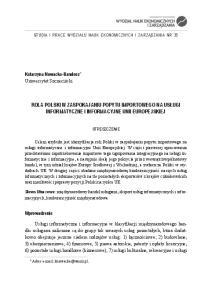 informatyczne i informacyjne Unii Europejskiej