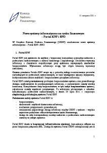 informatyczne Portal KNF i SNO