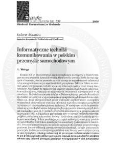 Informatyczne techniki komunikowania w polskim