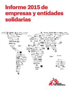 Informe 2015 de empresas y entidades solidarias