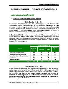 INFORME ANUAL DE ACTIVIDADES 2011