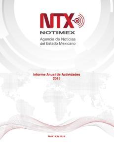Informe Anual de Actividades 2015