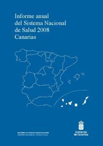 Informe anual del Sistema Nacional de Salud 2008 Canarias