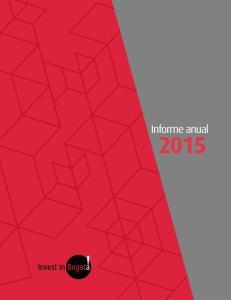 Informe anual. Informe anual