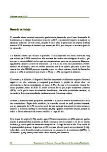 Informe anual Mercado de trabajo