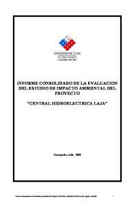 INFORME CONSOLIDADO DE LA EVALUACION DEL ESTUDIO DE IMPACTO AMBIENTAL DEL PROYECTO