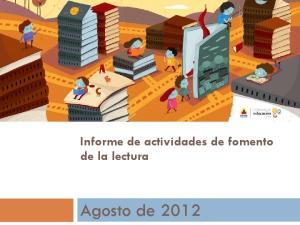 Informe de actividades de fomento de la lectura