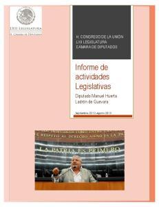 Informe de actividades Legislativas