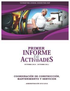 INFORME DE ACTIVIDADES!