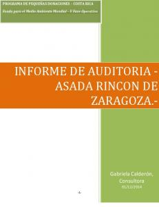 INFORME DE AUDITORIA - ASADA RINCON DE ZARAGOZA.-
