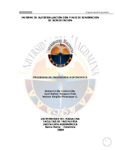 INFORME DE AUTOEVALUACION CON FINES DE RENOVACION DE ACREDITACION