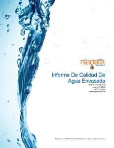 Informe De Calidad De Agua Envasada 1933 N. Gun Club Road Aurora, CO ITS-PURE