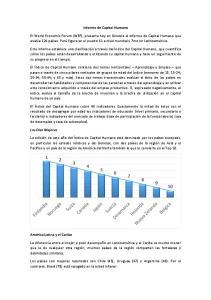 Informe de Capital Humano