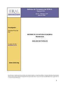 Informe de Coyuntura del IERAL Regional NOA