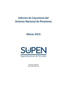 Informe de Coyuntura del Sistema Nacional de Pensiones Marzo 2015