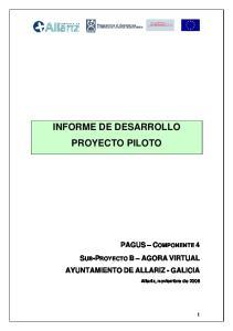 INFORME DE DESARROLLO PROYECTO PILOTO