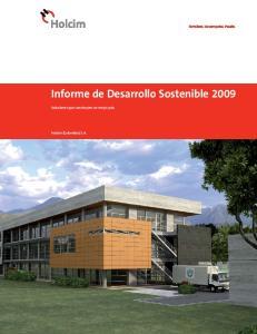 Informe de Desarrollo Sostenible 2009