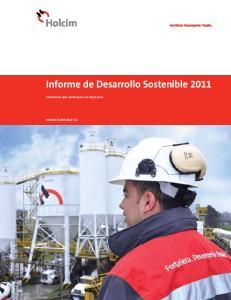 Informe de Desarrollo Sostenible 2011