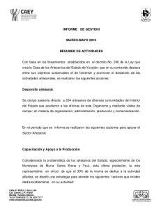 INFORME DE GESTION MARZO-MAYO 2013 RESUMEN DE ACTIVIDADES