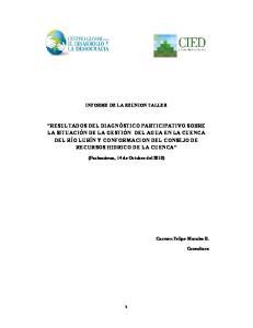 INFORME DE LA REUNION TALLER