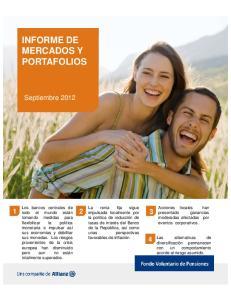 INFORME DE MERCADOS Y PORTAFOLIOS
