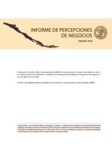 INFORME DE PERCEPCIONES DE NEGOCIOS