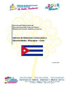 Informe de Relaciones Comerciales y Oportunidades. Nicaragua Cuba