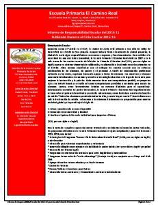 Informe de Responsabilidad Escolar del Publicado Durante el Ciclo Escolar
