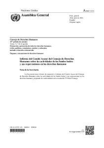 Informe del Comité Asesor del Consejo de Derechos Humanos sobre las actividades de los fondos buitre y sus repercusiones en los derechos humanos