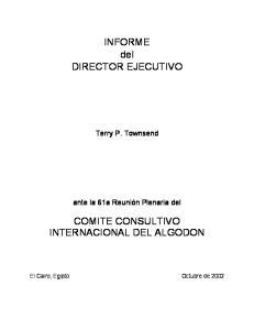INFORME del DIRECTOR EJECUTIVO