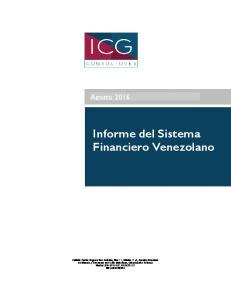 Informe del Sistema Financiero Venezolano