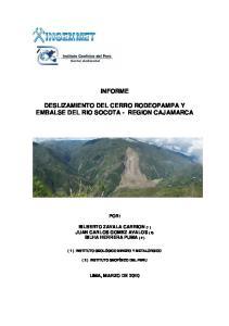 INFORME DESLIZAMIENTO DEL CERRO RODEOPAMPA Y EMBALSE DEL RIO SOCOTA - REGION CAJAMARCA