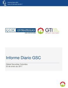 Informe Diario GSC lunes, 23 de enero de Informe Diario GSC