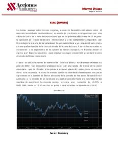 Informe Divisas Mayo 23 de 2012