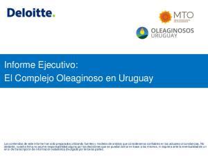 Informe Ejecutivo: El Complejo Oleaginoso en Uruguay