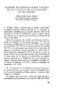INFORME EN DERECHO SOBRE VALIDEZ DE LA CLAUSULA DE ACELERACION EN EL PAGARE