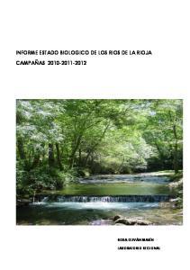 INFORME ESTADO BIOLOGICO DE LOS RIOS DE LA RIOJA