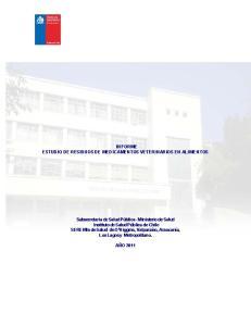 INFORME ESTUDIO DE RESIDUOS DE MEDICAMENTOS VETERINARIOS EN ALIMENTOS