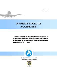 INFORME FINAL DE ACCIDENTE