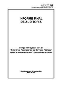 INFORME FINAL DE AUDITORIA