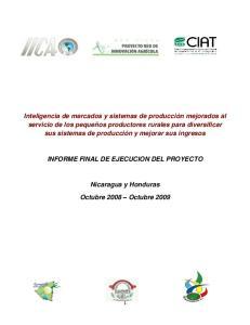 INFORME FINAL DE EJECUCION DEL PROYECTO